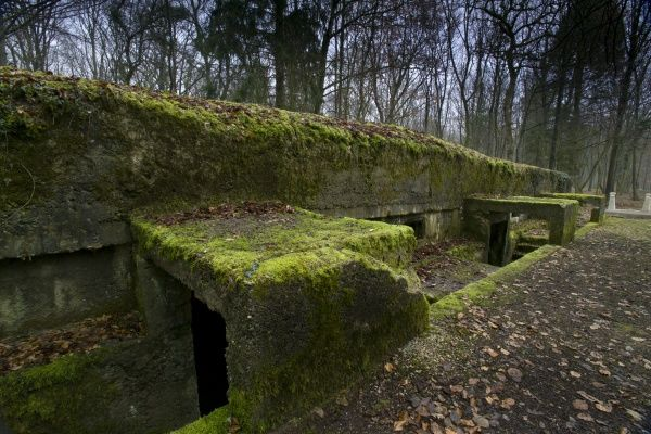 This bunker was the HQ for Col Driant who commanded the Chasseurs who held the Bois des Caures for two vital days right at the beginning of the battle Col Driant [ 61 yrs ] was in command of the 56 & 59 Chasseurs a Pied in the Bois des Caures