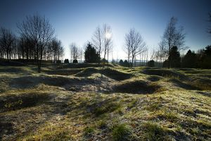 Shell holes and craters at Thiaumont - Verdun