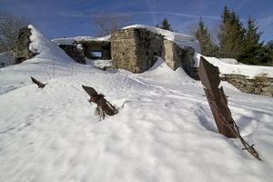 Tetes des Faux. - Large German blockhouse on summit - Vosges